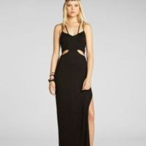 BCBGeneration Black maxi dress side cuts  outs med